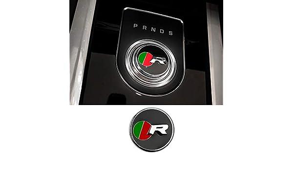 D28JD Logo-Emblem f/ür das Auto Schaltknauf Abdeckung Metallbuchstaben Aufkleber f/ür J-aguar F-PACE XE XF XFL XEL,S