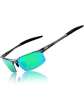 Ronsou Hombre Deporte Al-Mg Polarizadas Gafas de Sole Irrompible para Conducción Ciclismo Pescar Golf