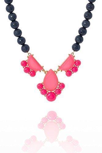 david-aubrey-damen-statementkette-mit-pinkem-pendant-und-blauen-perlen-messing-18-karat-vergoldet-ca