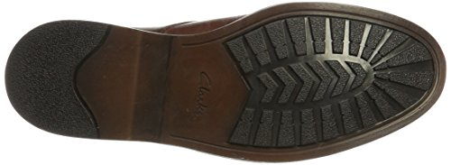 Clarks Pitney Cap, Derby Uomo Marrone (British Tan Lea)