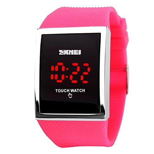 Unisex Touch Bildschirm digitale LED Waterproofc Sport Lässige wasserdichte Armbanduhren Uhren