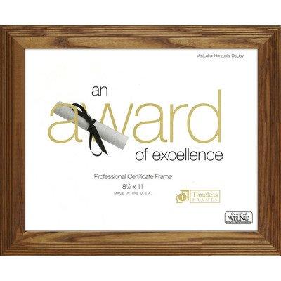Zeitloses Frames Englewood (Dokument & Award Wand Rahmen Holz Umweltfreundlich-Made in USA 8.5 x 11 Honig -