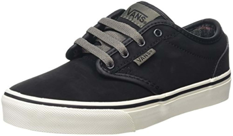 Vans Boys' Atwood Low-Top Sneakers, Black (Mte), 32 UK