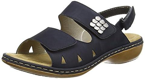 Rieker 65992-14, Women's Open Toe Sandals, Blue (Navy), 6.5 UK (40 EU)