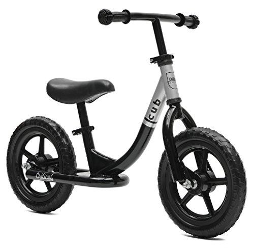 Critical Cycles 2403 Cub Laufrad ohne Pedale für Kinder - Schwarz, Medium/30,48 cm (Kazam Balance-fahrrad)