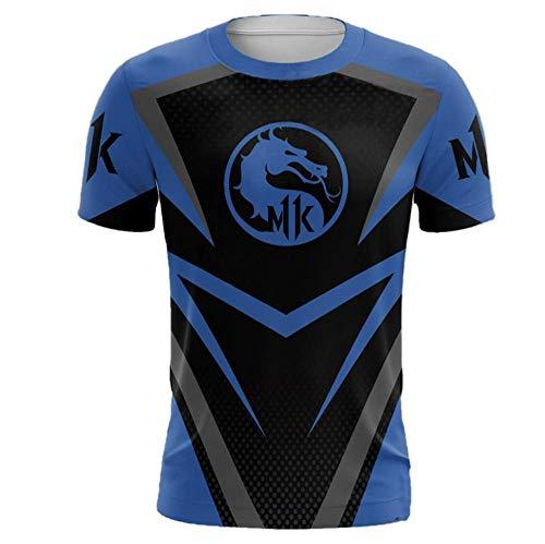 Unisex 3D Druck Graphics Kurzarm Lässige Loom Wunder Rundhals Kreativ Atmungsaktiv Sport Herren Hawaiian Poloshirt Mortal Kombat XXXL ()