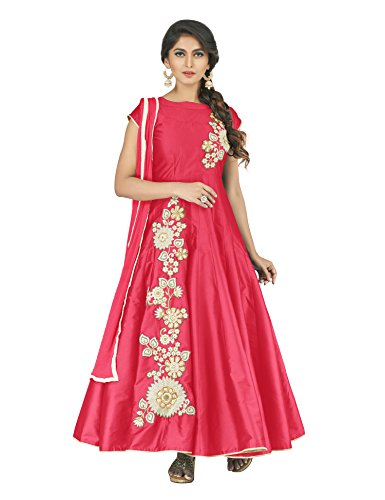 Oomph! Women\'s Art Silk Lehenga Choli (Rbmf_Ami6_Emerald Green_Free Size)