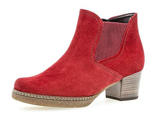 Gabor Damen Chelsea Boots 36.661, Frauen Stiefelette/Röhrli,Stiefel,Halbstiefel,Bootie,Schlupfstiefel,hoch,dk-Opera (S.n/Mic),39 EU / 6 UK