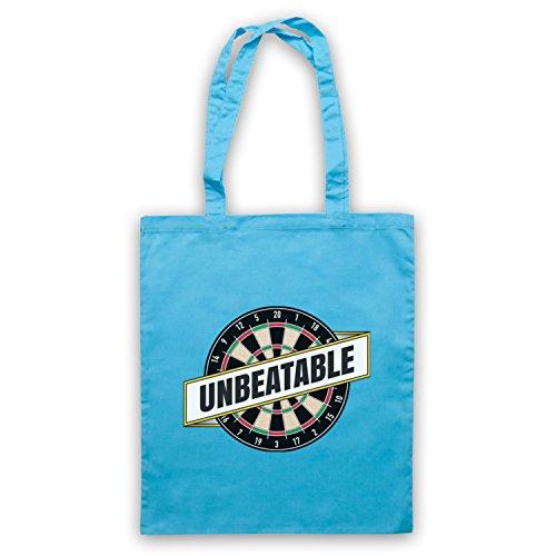 Darts Unbeatable Darts Slogan Umhangetaschen Hellblau