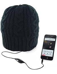 Unisex Mens Womens Knitted Thermal Winter Beanie Hat Built In Music Headphones Shopmonk