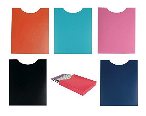 6 Heftboxen / DIN A4 / aus PP / Hochformat / 6 verschiedene Farben