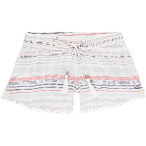 O'Neill Damen LW Jacquard Lace Detail Shorts, Blau All Over Print mit Pink/Lila, S -