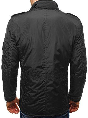 OZONEE Herren Übergangsjacke Jacke Sweatshirt Langarmshirt Sweats Longsleeve Sweatjacke Bomberjacke Frühlingsjacke J.STYLE 503 Schwarz_JEEL-2007