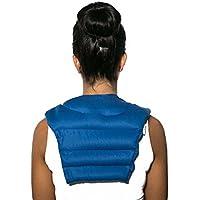 Nackenhörnchen mit Rückenteil | Bio-Stoff dunkelblau | Kirschkernkissen | Nackenkissen | Rücken Wärmekissen preisvergleich bei billige-tabletten.eu