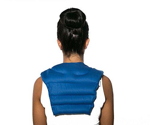 Cuscinetto ricurvo per collo e schiena, bio blu scuro | Cuscino termico cervicale con noccioli di ciliegia | Cuscino cervicale con schienale