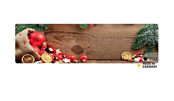 Teppichläufer Küchenläufer WEIHNACHTEN COLLAGE Motiv 50x180x0,4 cm waschbar