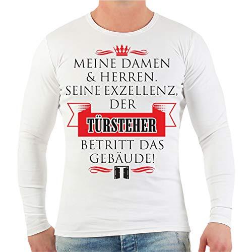 Spaß kostet Männer und Herren Langarmshirt Seine Exzellenz DER TÜRSTEHER Größe S - XXL (Sec-shirt)