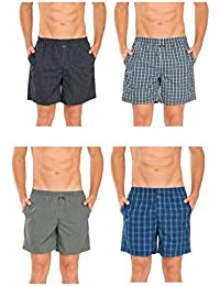 Jockey 1223 Assorted Colors Cotton Boxer (Pack of 4)