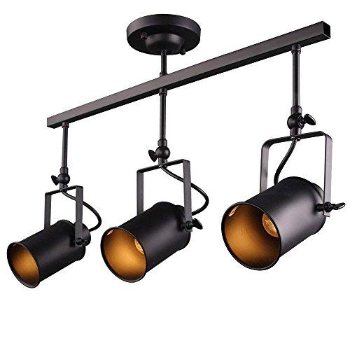 Modern Industrielle Vintage Deckenspots Strahler Minimalistisch Wandleuchte Industrielampe 8,5cm Breite Spot Lampe Industrial Deckenleuchte Wandbeleuchtung Ceiling Leuchter für Esszimmer Küche,3 Licht -