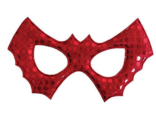 Fledermaus-Maske mit Pailletten, für Kinder