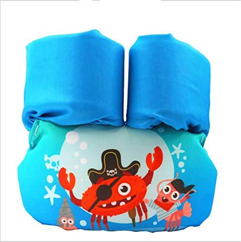 FDGT Blaue Pirate Krabbe Kinder Schwimmarm Kreis-Kleinkind-Baby-Schwimmanlage Schwimmkreis Mu Sleeves Schwimmweste