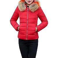 LUNULE Abrigos Abrigos Mujer Invierno,Abrigo con Capucha de Piel sintética Chaqueta Plumas Gruesa de Mujer,Abrigos Chaquetas Capas para Mujer Ajustado, Recomendado un tamaño más