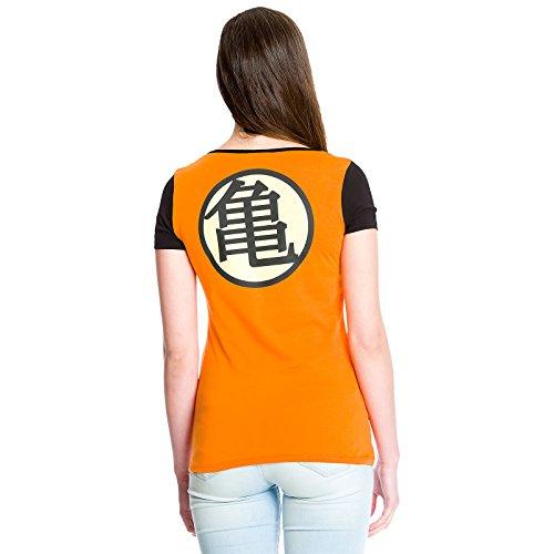 Dragon Ball Girlie Shirt Kame Symbol Orange Baumwolle Orange