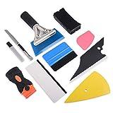 Winjun Autofolie Tönungsfolie Installation Werkzeug Folienrakel Filzrakel Wasserabzieher Kunststoffschaber 9mm Cuttermesser mit 10 Stück Abbrechklingen