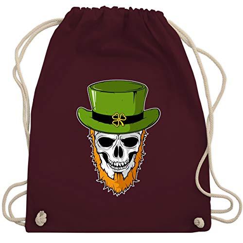 St. Patricks Day - St. Patricks Day - Totenkopf - Unisize - Bordeauxrot - WM110 - Turnbeutel & Gym ()