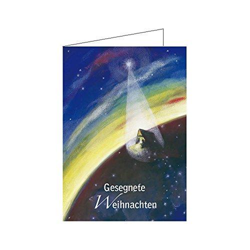 igiöse Motive DIN A6 10er Pack - Christliche Grußkarte Klappkarte mit Text Gesegnete Weihnachten ()