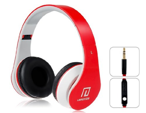 Langston Majestic TAB-610 4G 10.1 Zoll Tablet PC Faltbare Super Bass High Definition Kopfhörer (iM-12 V) in Rot MitMikrofon&Fernbedienung -
