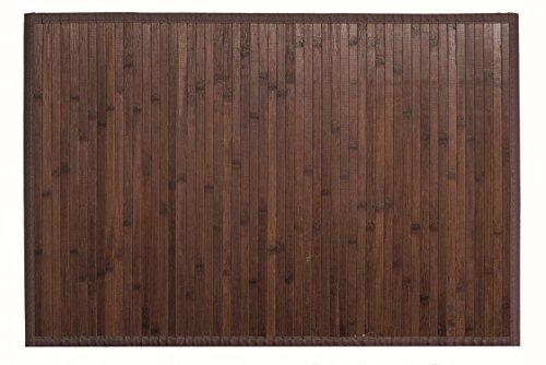 Bertha Hogar - Alfombra Bambú Kanda, 140x200 cm, nogal