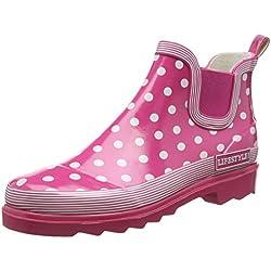 Beck Lifestyle, Zapatillas de Estar por casa para Mujer, Rosa (6), EU