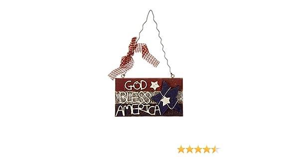 Darice Patriotic 4th of July Decor Small Prim God Bless America Sign DariceInc