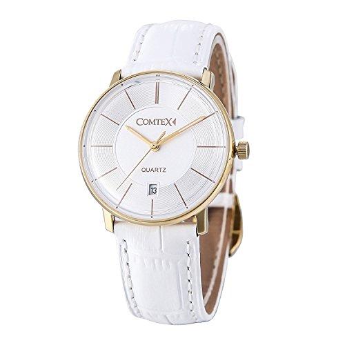 comtex-orologio-da-polso-da-donna-con-quadrante-bianco-analogicosuperficie-curva-biancooro