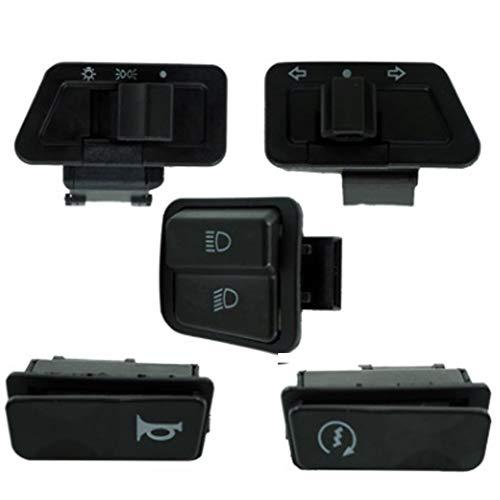 5 x interrupteur moto klaxon ouvert flash haut et bas interrupteur de démarrage électrique CBFYKU