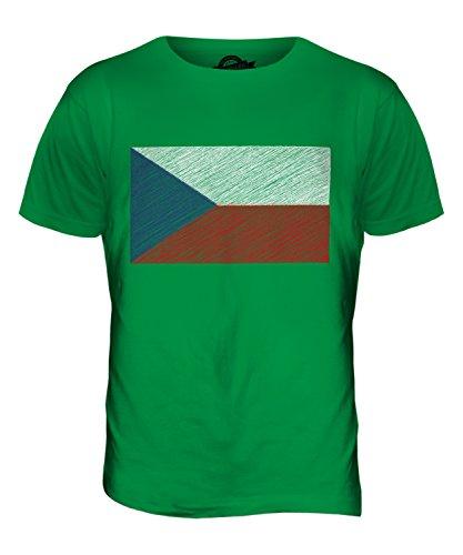 CandyMix Tschechien Kritzelte Flagge Herren T Shirt Grün