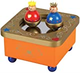 LELIN CHILDRENS KIDS WOODEN WOOD ROYAL DANCING QUEEN & KING MUSICAL BOX
