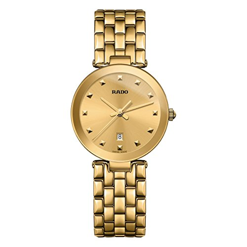 RADO WOMEN'S FLORENCE 28MM GOLD PLATED BRACELET & CASE QUARTZ WATCH R48872253