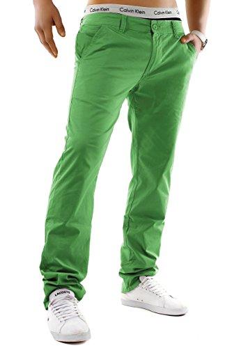 Herren Chino Hose Estate Colori ID1245 Straight Fit , Farben:Grün;Größe Hosen:W30 (Grüne Chino Hose)