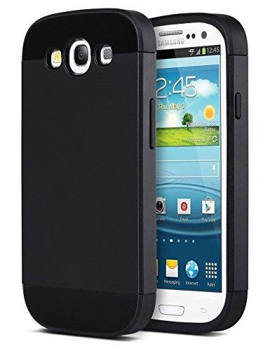 S3 Coque,Galaxy S3 Coque, ULAK Double Couche de TPU+PC Etui Coque dur Housse de Protection pour Samsung Galaxy S3(Noir)