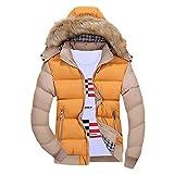 Homme à Capuche Manteau Doudoune Hiver Chaud Épais avec Capuche Veste Blouson Mode Jacket Pas Cher Outwear