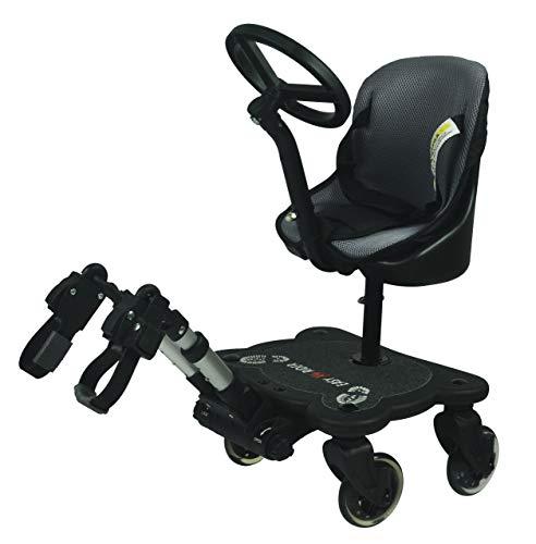 Easy X Rider Planche à 4 roulettes avec siège et volant, modèle universel compatible avec toutes les poussettes et landaus