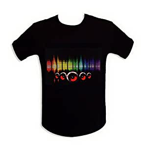 T-shirt sono lumineuse LED equalizer lumineux enceinte XL