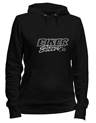Speed Shirt Kapuzen-Sweatshirt Frauen Schwarz TB0030 Biker Bitch - Bitch Biker-shirt