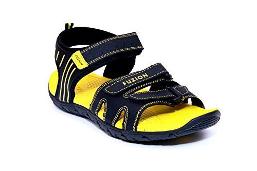 Fuzion Men's Yellow Sandal - 7 UK  available at amazon for Rs.498