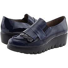 es Zapatos Wonders Mujer Azul Amazon dqg5d