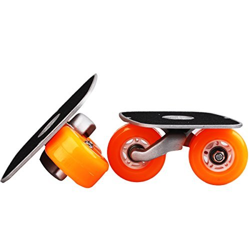 Und Wheels Roller Skate Trucks (Orange Portable Roller Road Drift Skates Plate Anti-slip Board Aluminum Truck With PU Wheels With ABEC-7 608 Bearings by JINCAO)