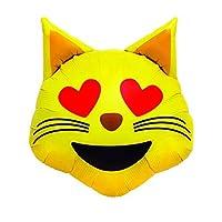 "Cat Heart Eyes Emoji 18"" Foil Balloon Party Decoration"