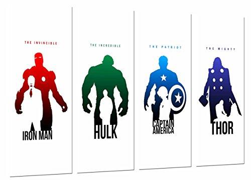 Cuadro Moderno Fotografico Iron Man, Hulk, Capitan America y Thor, Los Vengadores, The Avengers, 131 x 62 cm, Ref. 26659